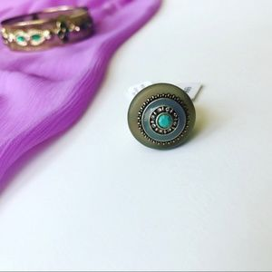 Teal Stone Olympus Ring! Size 7